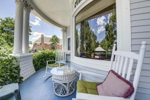A porch or other outdoor area at The St. Mary's Inn, Bed and Breakfast