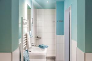 A bathroom at Hotel Klein Amsterdam