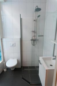 Een badkamer bij City Hostel Vlissingen