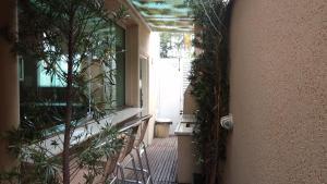 Uma varanda ou outra área externa em Casa do Pippo - Enseada