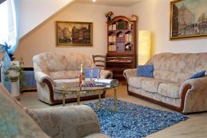 Ruang duduk di Ferienwohnungen Engelsgaertchen
