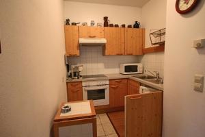 Kuchyň nebo kuchyňský kout v ubytování Appartement Alpenblick by Schladming-Appartements