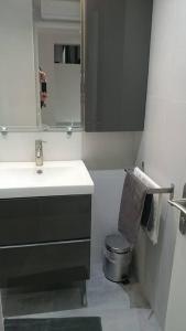 A bathroom at The Pearl of Marais
