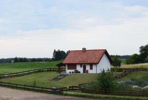 Ogród w obiekcie Domek letniskowy Góra - Mazury