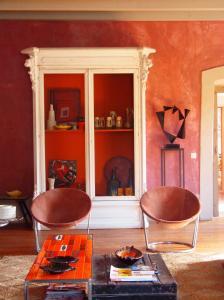 The lounge or bar area at Convento Senhora da Vitória