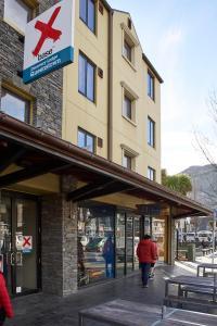 The facade or entrance of Base Queenstown
