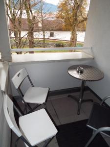 Ein Balkon oder eine Terrasse in der Unterkunft Ferienwohnung Lahnbachallee, Schwaz