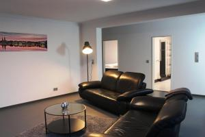 Ein Sitzbereich in der Unterkunft Rooftop Apartment