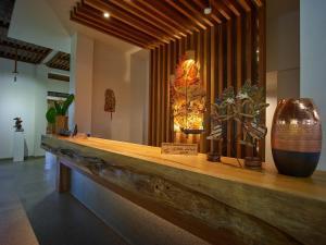 De lobby of receptie bij Jiwa Jawa Resort Ijen