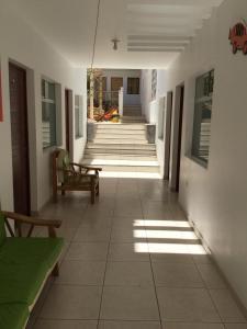 Hall ou réception de l'établissement Paracas Backpackers House