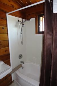 A bathroom at Big Meadow Lodge