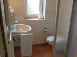 Ein Badezimmer in der Unterkunft Hotel Manu