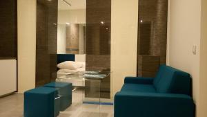 Poilsio erdvė arba baras apgyvendinimo įstaigoje Mirror Apartments