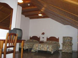Cama o camas de una habitación en Hotel Anaya