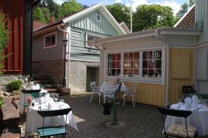 En restaurang eller annat matställe på Hotel Amalias Hus
