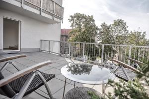 Patio nebo venkovní prostory v ubytování Sunny Apartment Ostrava Center