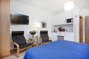 A television and/or entertainment center at Northern Comfort Apartments