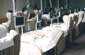 Banquet facilities at the capsule hotel