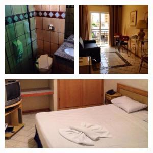 A bed or beds in a room at Hotel Nações Plaza