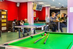 A billiards table at International Hall / University of London