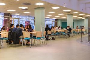 A restaurant or other place to eat at International Hall / University of London