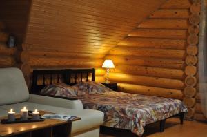 Кровать или кровати в номере Гостевой Дом Штурманская