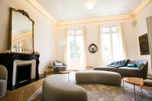 Coin salon dans l'établissement L'Hôtel Particulier Beziers