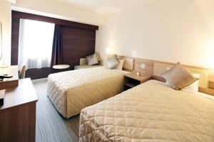 京都河原町四條酒店房間的床