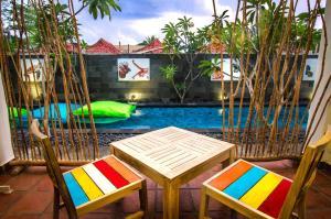 The swimming pool at or near Blue Marlin Trawangan