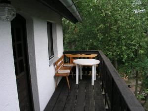 A balcony or terrace at Holiday home in Plasy 1618