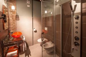 A bathroom at Hotel Residence Diamantina