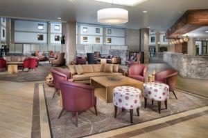 The lobby or reception area at DoubleTree by Hilton Lawrence