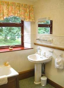 A bathroom at Penrhadw Farm