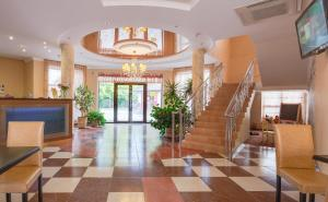 The lobby or reception area at Golden Dunes