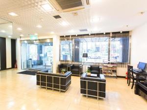 The lobby or reception area at Hotel AreaOne Okayama