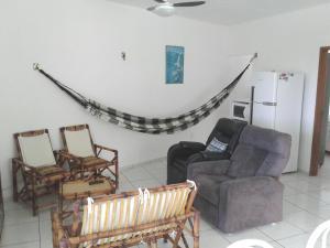 Uma área de estar em Casa na Praia do Forte