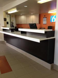 The lobby or reception area at Motel 6-Brownsville, TX North