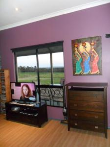A television and/or entertainment center at Tanen Farm
