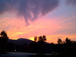 The sunrise or sunset as seen from the lodge or nearby