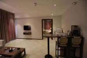 مطبخ أو مطبخ صغير في فندق جبل عمان (هيريتيج هاوس)
