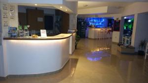 The lobby or reception area at Argo Hotel