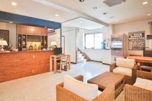 The lobby or reception area at Morino Lodge - Hakuba