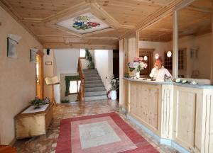 The lobby or reception area at Meublè Cima Bianca Garni