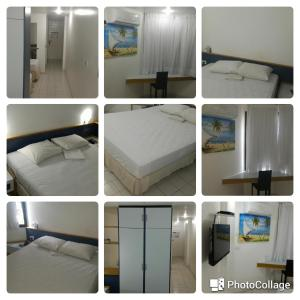 A bed or beds in a room at AP 219 Victory Flat em Tambaú