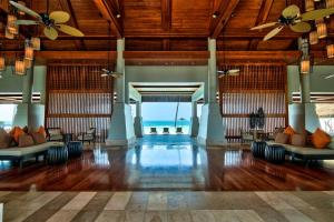 The lobby or reception area at Hilton Ngapali Resort and Spa