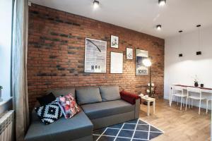 Część wypoczynkowa w obiekcie Family Comfort Apartament Old Town Gdańsk - studio & sofa, 1 bedroom, parking