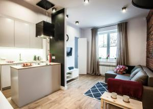 Kuchnia lub aneks kuchenny w obiekcie Family Comfort Apartament Old Town Gdańsk - studio & sofa, 1 bedroom, parking