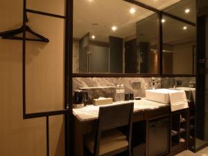 A bathroom at Hotel Midtown Richardson - Kaohsiung Bo'ai