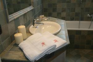 Koupelna v ubytování Hotel Meeting