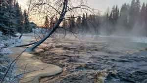 Keskikosken Lomamökit during the winter